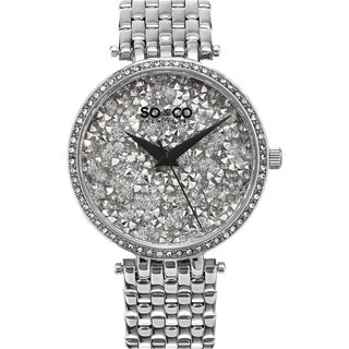 SO&CO New York SoHo Women's Quartz Stainless Steel Crystal Bracelet Mothers Day Gift Watch