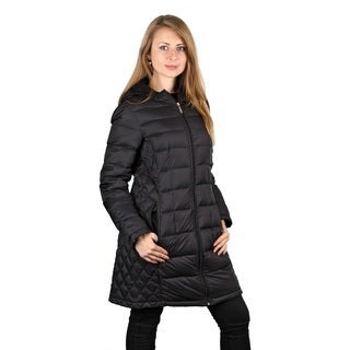 Michael Michael Kors Black Down Quilted Hooded Puffer Packable Coat