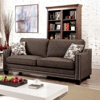 Caris Contemporary Fabric Sofa