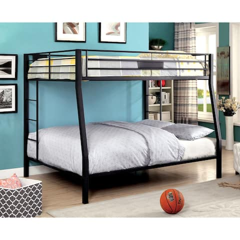 Furniture of America Tic Contemporary Black Metal Bunk Bed