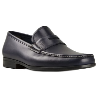 Salvatore Ferragamo Narni Navy Leather Penny Loafers