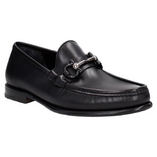 Salvatore Ferragamo Mason Black Leather Gancini Loafers