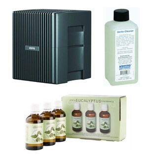 Venta LW25G Humidifier & Airwasher + Venta Airwasher Eucalyptus Fragrance + Venta 8-Ounce Airwasher Cleaning Solution