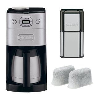 Cuisinart DGB-650BC Grind & Brew Thermal Coffeemaker + Grind Central Coffee Grinder (Refurbished) + Replacement Water Filters