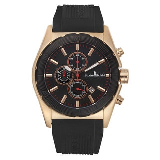 Studer Schild Volta Swiss Quartz Multi-Funtion Chronograph Men's Watch 46 mm Case 22 mm Silicone Strap