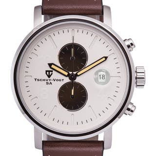 Tschuy-Vogt M60 Patton Men's Chronograph Watch Super Luminova 22mm Genuine Leather Strap|https://ak1.ostkcdn.com/images/products/11046395/P18059118.jpg?impolicy=medium