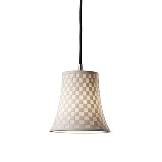 Justice Design Group Limoges Nickel Mini-Pendant, Checkboard