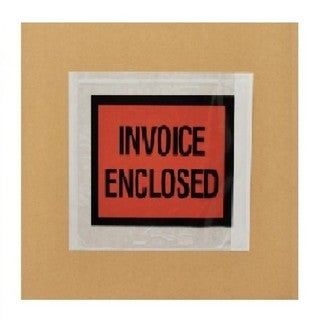10000-pack ing List Invoice Enclosed Envelope Slip Holders Pouch 4.5 x 5.5 Back Side Load Full Face