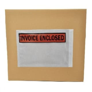 50000-pack ing List Slip Invoice Enclosed Envelopes 7 x 5.5 Panel Face