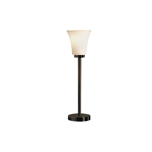 Justice Design Group Fusion - Modular Bronze Table Lamp, Opal Glass