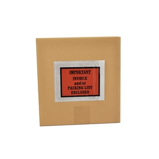5000 Invoice/ Enclosed-pack ing List Envelopes Olders Pouch 4.5 x 5.5 Back Side Load Full Face