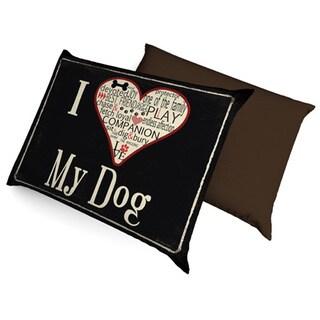 I Love My Dog Fleece Dog Bed