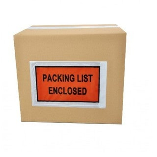 5000-pack ing List Enclosed Envelope Slip Holders Pouch 7 x 5.5 Back Side Load Full Face