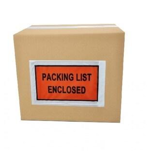 10000-pack ing List Enclosed Envelope Slip Holders Pouch 7 x 5.5 Back Side Load Full Face