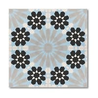Pack of 12 Agdal Grey and Black Handmade Cement and Granite 8x8-inch Floor and Wall Moroccan Tiles (Morocco)