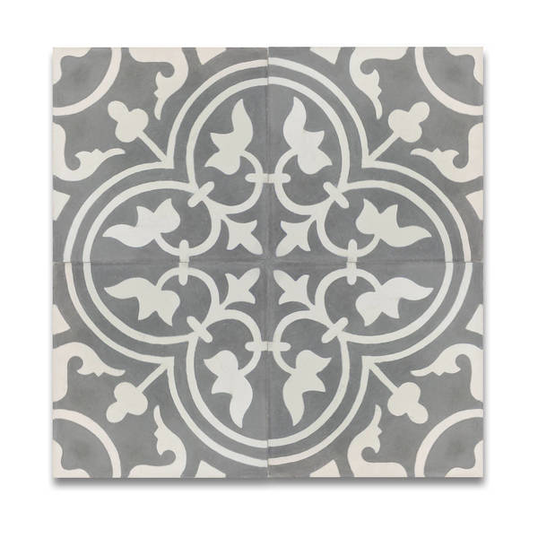 Shop Casa Grey And White Handmade Moroccan 8 X 8 Inch