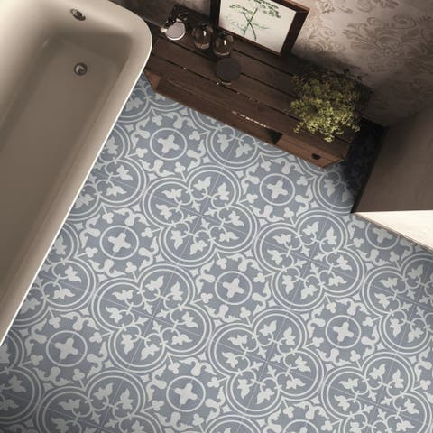 Casa in Grey and White Handmade 8x8-in Moroccan Tiles (Pack 12)