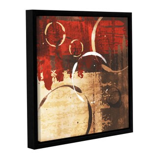 ArtWall Jennifer Pugh's Grunged Red Revolution II, Gallery Wrapped Floater-framed Canvas