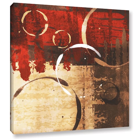 ArtWall Jennifer Pugh's Grunged Red Revolution II, Gallery Wrapped Canvas
