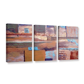 ArtWall Herb Dickinson's Viceral Effect, 3 Piece Gallery Wrapped Canvas Set