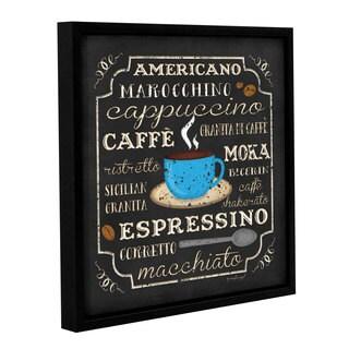 ArtWall Jennifer Pugh's Italian Coffee, Gallery Wrapped Floater-framed Canvas