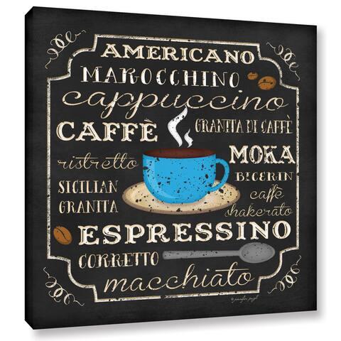 ArtWall Jennifer Pugh's Italian Coffee, Gallery Wrapped Canvas