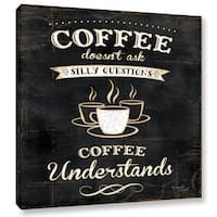 ArtWall Jennifer Pugh's Coffee Understands, Gallery Wrapped Canvas