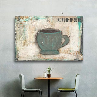 ArtWall Cassandra Cushman's Coffee, Gallery Wrapped Canvas