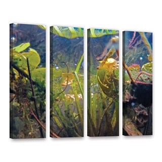 ArtWall Ed Shrider's Lake Hope UW #6, 4 Piece Gallery Wrapped Canvas Set