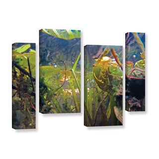 ArtWall Ed Shrider's Lake Hope UW #6, 4 Piece Gallery Wrapped Canvas Staggered Set