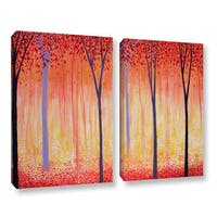 ArtWall Herb Dickinson's Placid, 2 Piece Gallery Wrapped Canvas Set - Multi