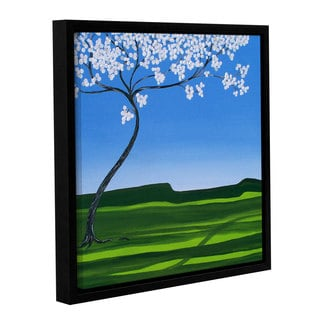 ArtWall Herb Dickinson's Thinking Spring, Gallery Wrapped Floater-framed Canvas