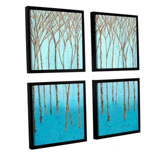 ArtWall Herb Dickinson's Fantasy Forest, 4 Piece Floater Framed Canvas Sqare Set