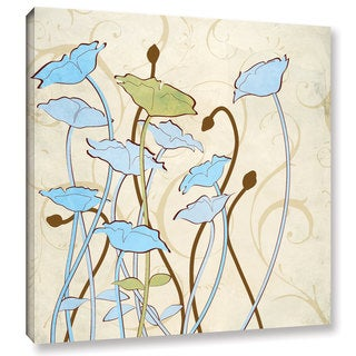 ArtWall Pied Piper's Floral Silhouettes, Gallery Wrapped Canvas