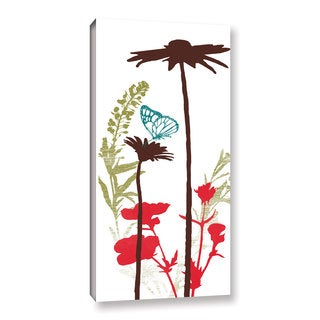 ArtWall Pied Piper's Silhouetted Garden, Gallery Wrapped Canvas
