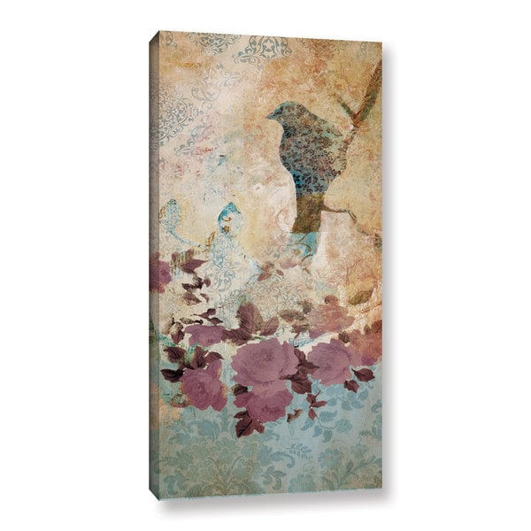 ArtWall Pied Piper's Birdsy Vintage Background, Gallery Wrapped Canvas