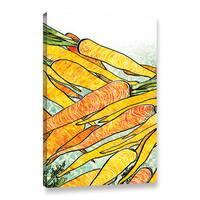 ArtWall BreeAnn Veenstra's Carrot Medley, Gallery Wrapped Canvas