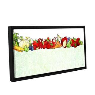 ArtWall BreeAnn Veenstra's Vegetable Medley, Gallery Wrapped Floater-framed Canvas
