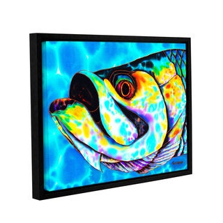 ArtWall Daniel Jean-Baptiste's Caribbean Tarpon, Gallery Wrapped Floater-framed Canvas