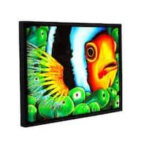ArtWall Daniel Jean-Baptiste's Clownfish, Gallery Wrapped Floater-framed Canvas