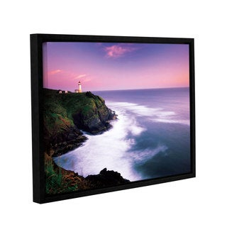 ArtWall Alan Majchrowicz's Cape Disappointment Lighthouse, Gallery Wrapped Floater-framed Canvas