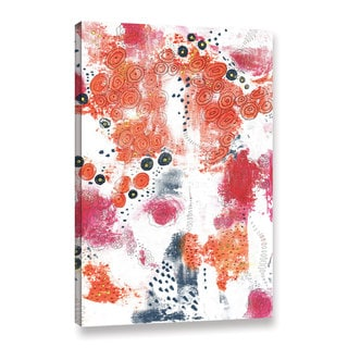 ArtWall Sarah Ogren's Orange And Fuschia Abstract, Gallery Wrapped Canvas