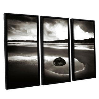 ArtWall Alan Majchrowicz's Clearing Strom On Washington Coast III, 3 Piece Floater Framed Canvas Set