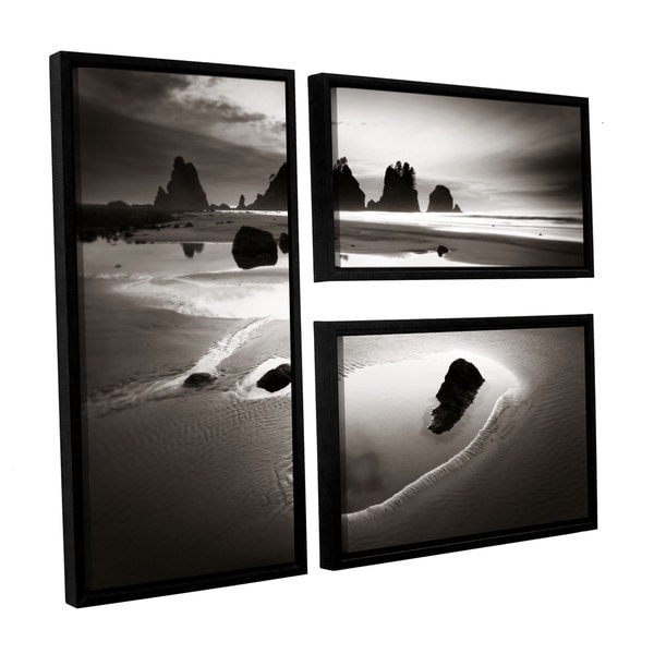 ArtWall Alan Majchrowicz's Point Of Arches, 3 Piece Floater Framed Canvas Flag Set