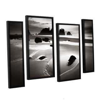 ArtWall Alan Majchrowicz's Point Of Arches, 4 Piece Floater Framed Canvas Staggered Set