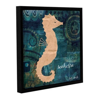 ArtWall Katie Doucette's Seahorse, Gallery Wrapped Floater-framed Canvas