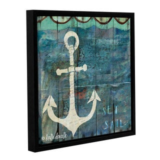 ArtWall Katie Doucette's Set Sail, Gallery Wrapped Floater-framed Canvas