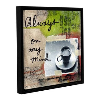 ArtWall Linda Woods's Always, Gallery Wrapped Floater-framed Canvas