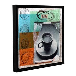ArtWall Linda Woods's Daily, Gallery Wrapped Floater-framed Canvas