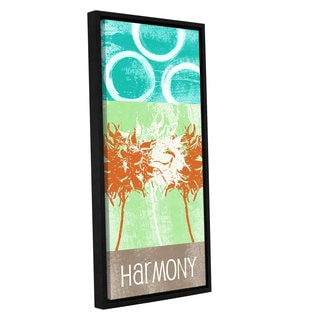 ArtWall Linda Woods's Harmony, Gallery Wrapped Floater-framed Canvas